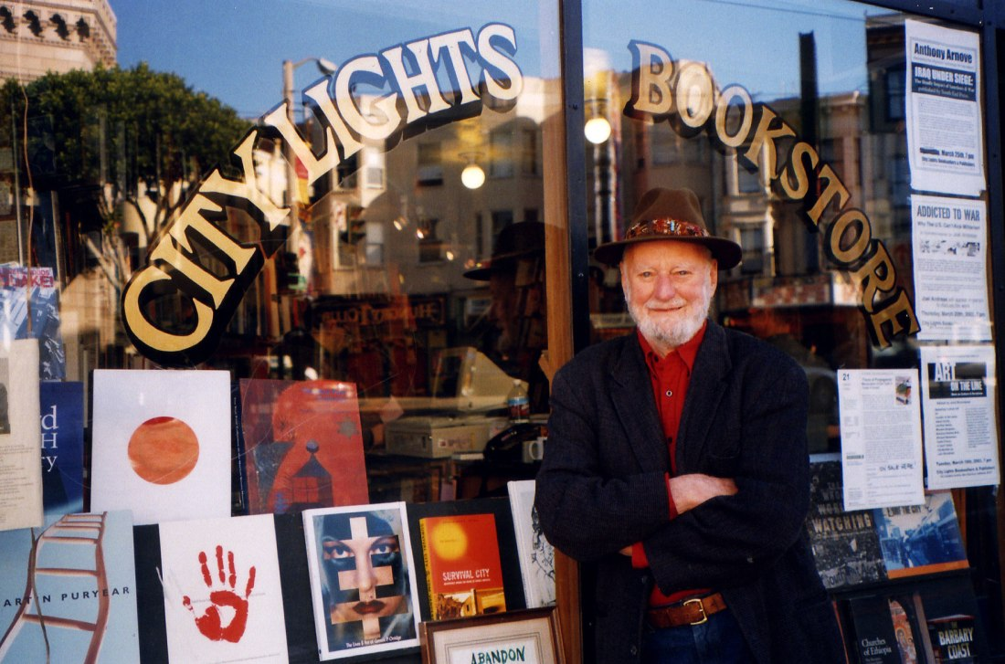 Lawrence-Ferlinghetti-outside-City-Lights-Bookstore-stacey-lewis-1